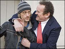 Mackenzie Crook and Colm Meaney in Three and Out