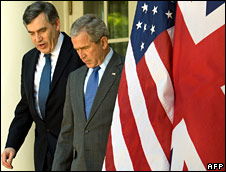 Gordon Brown and George Bush