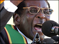Robert Mugabe addresses rally 18/4/08