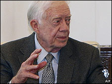 Former US President Jimmy Carter in Damascus