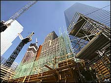 Work under way on the foundations of New York's post-9/11 Freedom Tower (image from 25 March 2008)