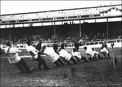British police teams also won silver and bronze in the 1908 tug of war competition