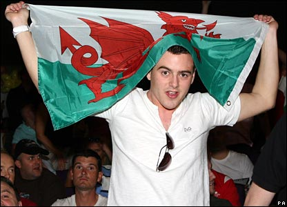 Calzaghe fan Aaron West is one of 4000 fans from Wales who attended the weigh-in