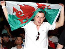 Welsh fan Aaron West