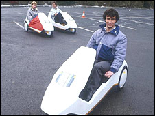 Sinclair C5 at its 1985 launch
