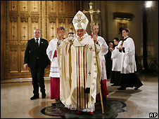 Pope Benedict in St Patrick's Cathedral, New York - 19/4/2008