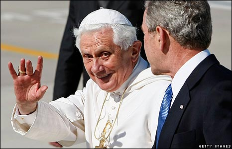 Pope Benedict and George W Bush