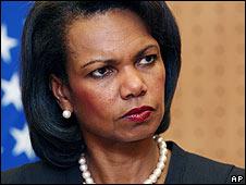 Condoleezza Rice, in  November 2007