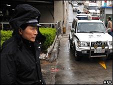 Policeman in Qingdao, 20/4/08