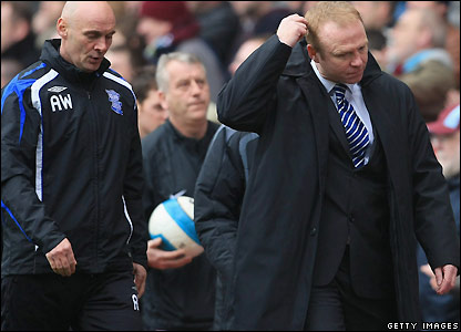 McLeish scratches his head