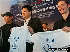 Jet Li, Ding Junhui and Graeme Dott