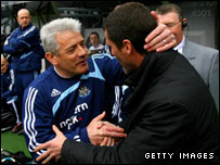 Kevin Keegan and Roy Keane (right)