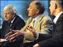 Boris Johnson, Ken Livingstone and Brian Paddick