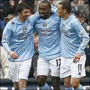 City celebrate the opening goal