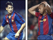 Gary Lineker (left) and Thierry Henry