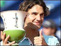 Federer had been below his best all week in Portugal
