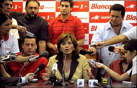 Blanca Ovelar conceding defeat