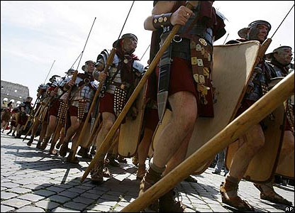 Парад в центре Рима