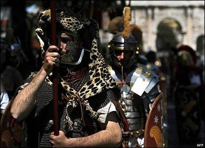 Языческий фестиваль на улицах Рима