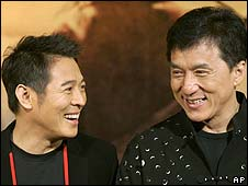 Jet Li and Jackie Chan