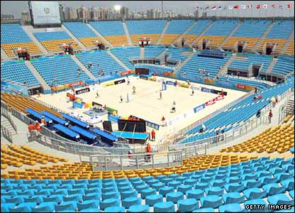 The Chaoyang Park beach volleyball venue