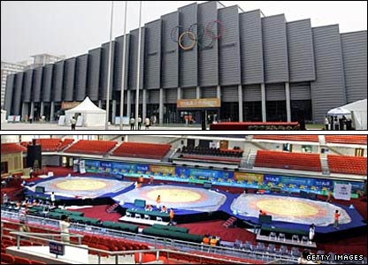 The China Agricultural University Gymnasium, venue for wrestling