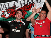 Thousands of Welsh fans descended on Las Vegas