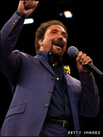 Tom Jones gave his own version of the Welsh national anthem
