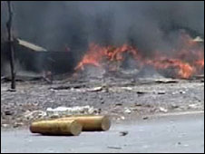 Flames on Mogadishi street