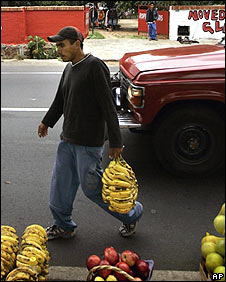 Paraguayan fruit vendor in Asuncion