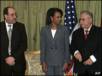 محادثات رايس في بغداد