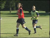 Mujeres futbolistas