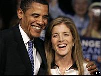 Barack Obama y Caroline Kennedy