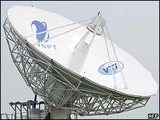 Communications satellite dish in Vietnam
