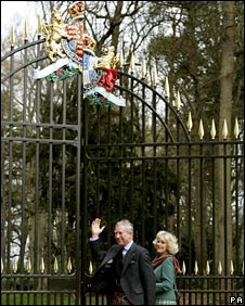 Charles and Camilla at the gates