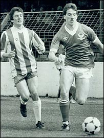 Action from the 1982 Irish Cup final