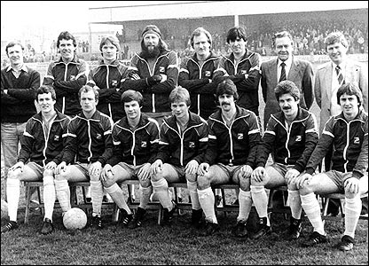 The Coleraine team pictured before the 1982 Irish Cup final