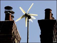 Micro-wind turbine (Image:PA)
