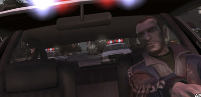 Screen grab from Grand Theft Auto IV