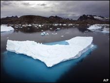 Greenland icebergs (file pic)