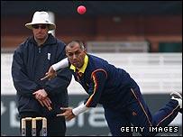 Min Patel bowling for MCC