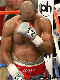 Bernard Hopkins after defeat to Joe Calzaghe in Las Vegas