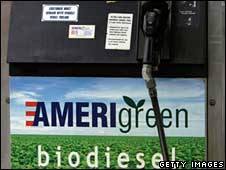 US petrol pump dispensing biodiesel