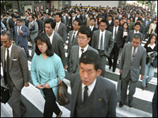 Workers in Tokyo, file image