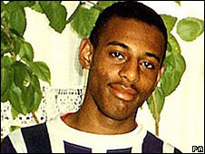 Stephen Lawrence was attacked by a gang of five white men at a bus stop