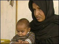 Aziza Abu Otayek and baby