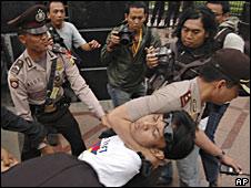 Protest in Jakarta, 22/04