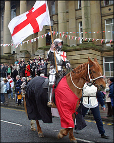 St George's Day parade in Morley. Picture courtesy of the Morley Observer