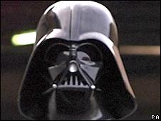 A Darth Vader lookalike (library)