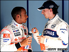 Lewis Hamilton and Robert Kubica